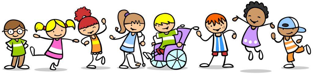Integration von verschiedenen Kindern mit und ohne Behinderung